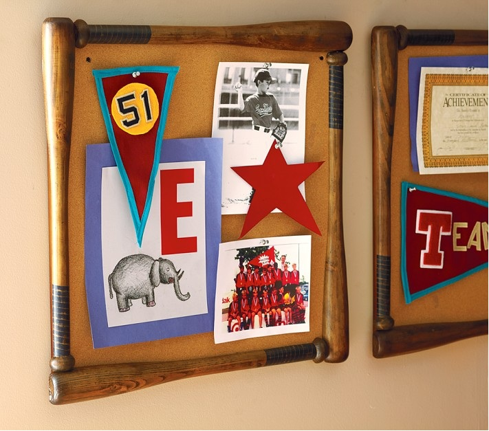 Baseball Bat Corkboard